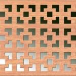 Панель декоративная перфорированная Виктория вишня