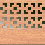 Экран декоративный перфорированный Виктория вишня