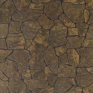 Панель стеновая листовая Камень Коричневый