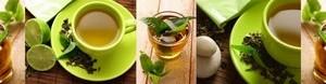 Кухонный фартук Чай и лайм
