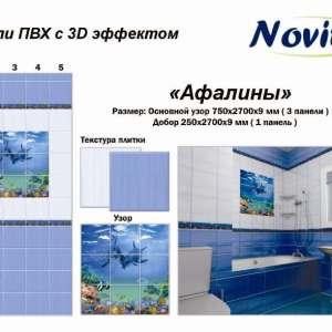 Панель ПВХ фотопечать Novita Афалины