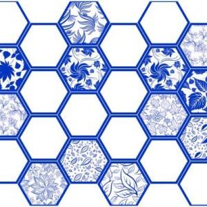 Панель пластиковая листовая Граненый шестигранник ХАВАДА