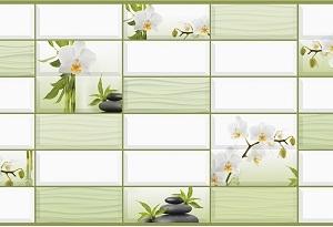 Панель пластиковая листовая Белая орхидея