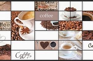 Панель пластиковая листовая Кофе-2