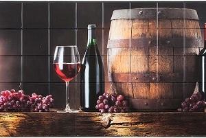 Панель пластиковая листовая Вино